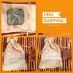H2BN Autochthon Burlap Soap Bag & Wash Cloth