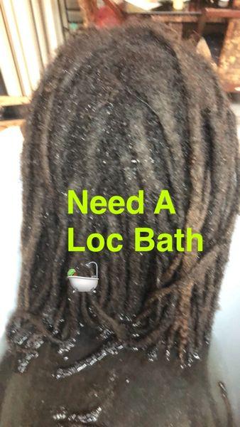 Loc Bath or Dread Bath Service