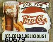 Pepsi Cola Signs Enamel
