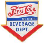 Pepsi Cola Wooden Sign