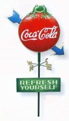Coca Cola Yard Stake
