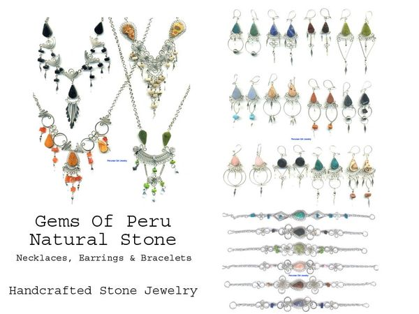 34 PIECE NATURAL STONE LOT NECKLACES EARRINGS BRACELETS