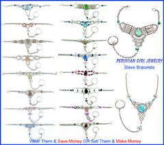 20 GLASS TOE RING ANKLETS FOOT CHAIN JEWELRY
