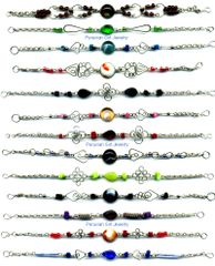10 GLASS BRACELETS HANDMADE PERUVIAN WHOLESALE JEWELRY