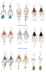 50 PAIRS NATURAL STONE EARRINGS HANDMADE IN PERU