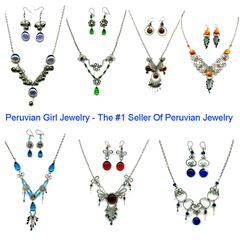 10 GLASS SETS NECKLACES EARRINGS PERU WHOLESALE