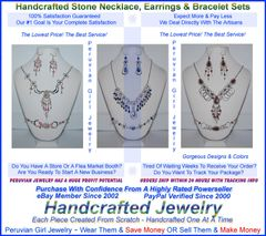10 STONE SETS THREE PIECE NECKLACES EARRINGS BRACELETS