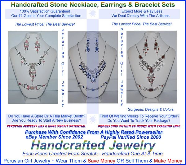 20 STONE SETS THREE PIECE NECKLACES EARRINGS BRACELETS