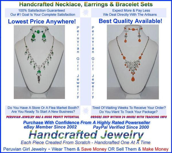 10 GLASS SETS THREE PIECE NECKLACES EARRINGS BRACELETS