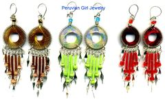 10 PAIRS WOVEN THREAD EARRINGS CIRCULAR DESIGN