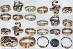 20 RINGS BRONZE COPPER ALPACA SILVER PERUVIAN WHOLESALE