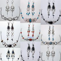 10 STONE SETS EARRINGS BRACELETS PERU WHOLESALE