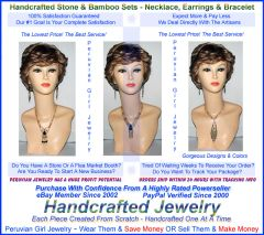 10 BAMBOO STONE SETS THREE PIECE NECKLACES EARRINGS BRACELETS