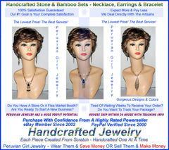 20 BAMBOO STONE SETS THREE PIECE NECKLACES EARRINGS BRACELETS