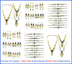 34 PIECE BAMBOO STONE LOT NECKLACES EARRINGS BRACELETS