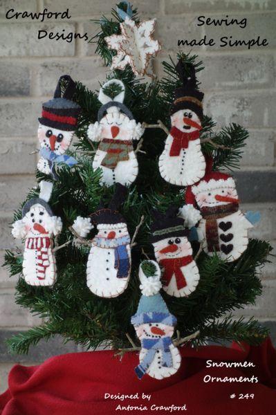 #249 Snowmen Ornaments kits
