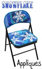 Applique for Chair Pattern- Snowflake applique only