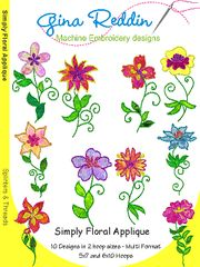 Machine Embroidery CD- Simply Floral Applique