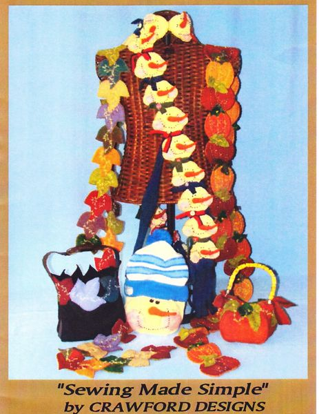#141 Whimsical seasons ( scarves , purses ) kit kIT MAKES 3 SCARVES