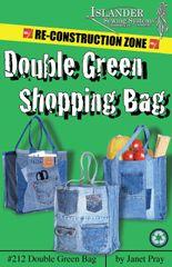 #212 The Double Green shopping bag