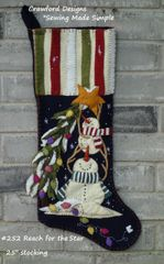 "#252 Reach for the Star pattern ( make 25"" long stocking)"