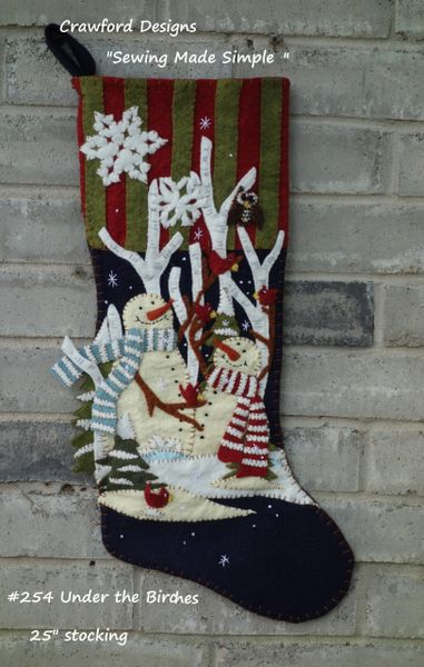 "#254 Under the Birches pattern ( makes a 25"" long stocking )"