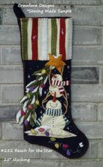 July 2019 Sale - Kits for Christmas Stocking (Choose you kit from drop down menu total of 26 stockings )( #210 a snowmans christmas shown)