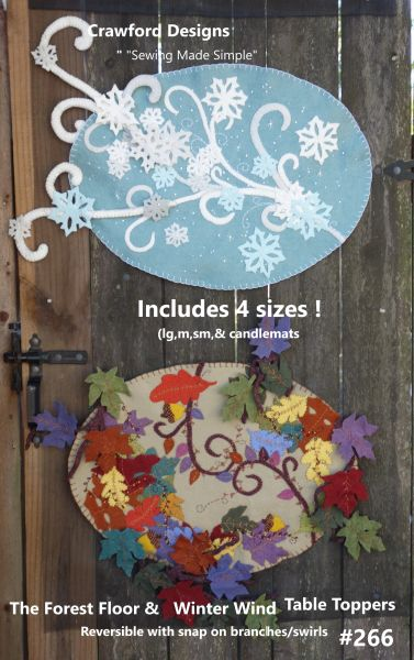 Reversible table toppers smaller kits