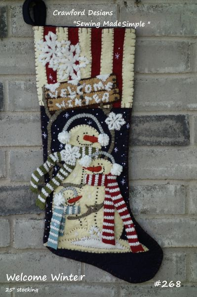 "#268 Welcome Winter 25"" long stocking pattern"