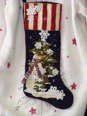 #195 Let it snow Christmas Stocking kit