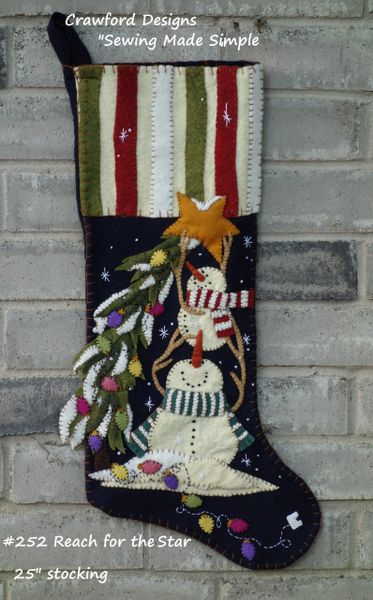 #252 Reach for the Star christmas stocking kit