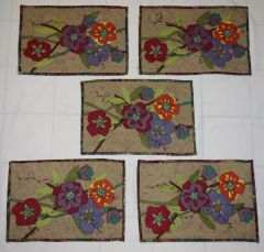 #250 Florals Zip apart tablerunner / placemats kit( fabrics and pattern)