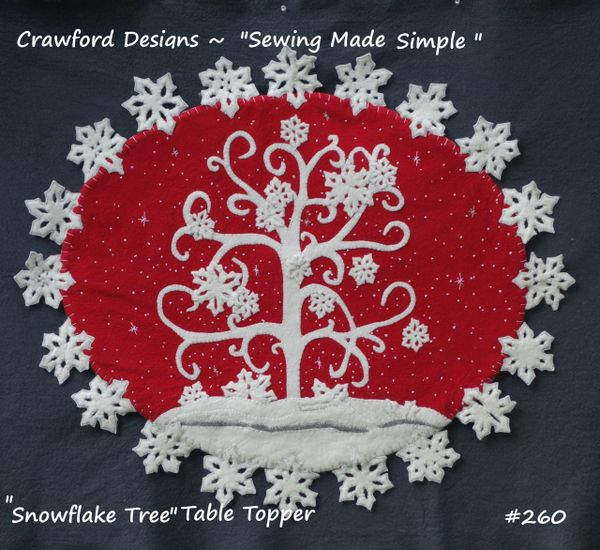 #260 The Snowflake Tree - 2 sizes - includes crystals
