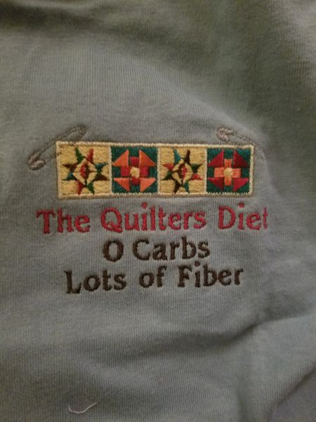 3x Quilters Embroidered T shirts !! machine washable , preshrunk, good sized , and fun expressions ! Free Shipping!