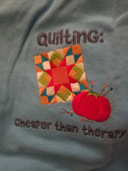 4X Quilters Embroidered T shirts !! machine washable , preshrunk, good sized , and fun expressions ! Free Shipping!