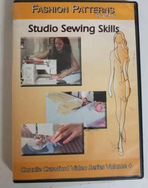 "Sewing Studio Skills video "" Fashion Patterns "" by Connie Crawford"