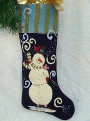 """Ollie 25"""" long stocking designed and handmade by Barbara Crawford of Crawford Designs"""