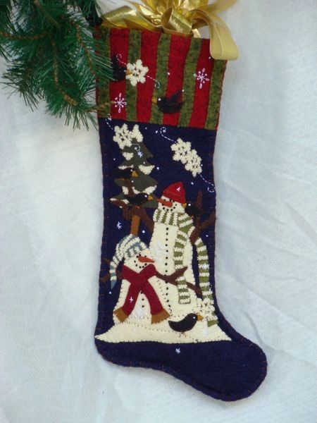 """Snowpals 25"""" long Stocking designed and hand made by Barbara Crawford of Crawford Designs"""