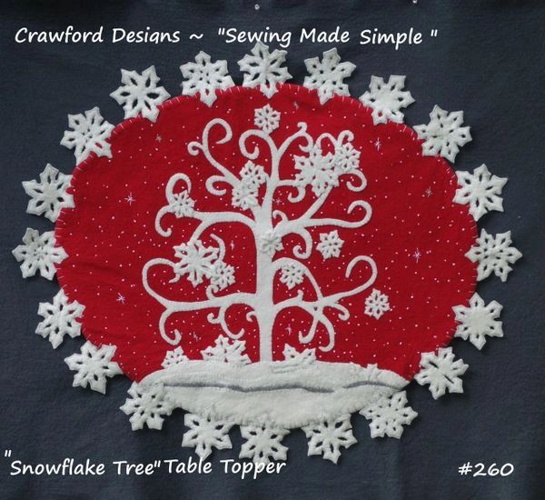 "The Snowflake Tree table topper 23"" x 29 """