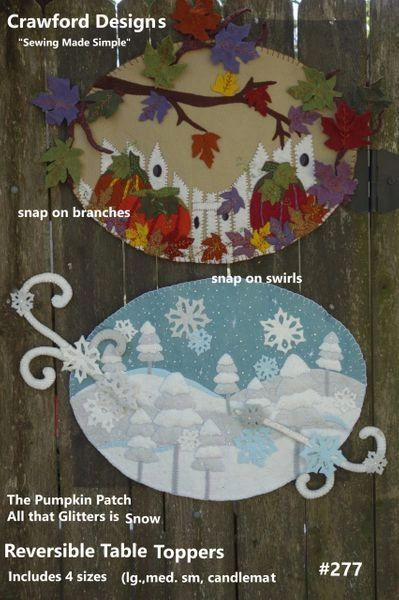 "All that Glitters is Snow table topper 23"" x 17"