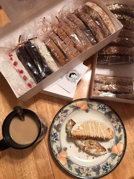 20% off while supplies last ! Bella Mamma's Assorted Biscotti flavors - we send a surprise assortment