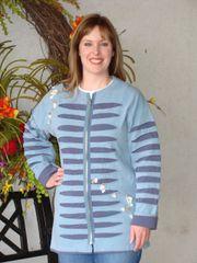 #200 Blue Bayou stitch and rip jacket