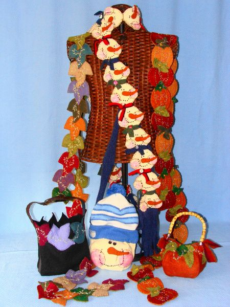 #141 Whimsical seasons ( scarves , purses )