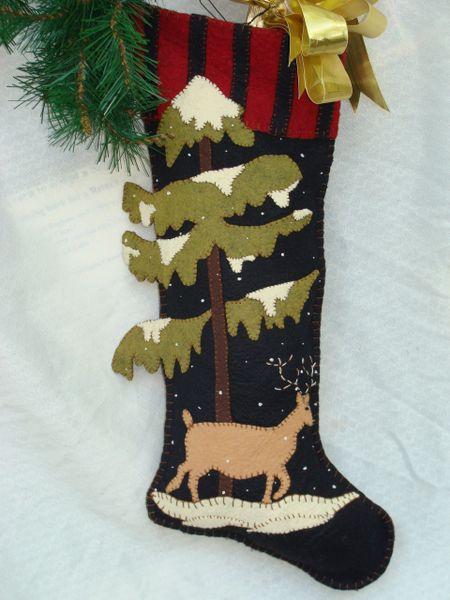 """#064 """"Woodland """" 25"""" long stocking"""