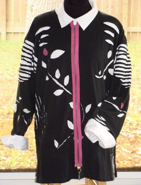 #211 Mulberry Lane Stitch and rip jacket with zipper