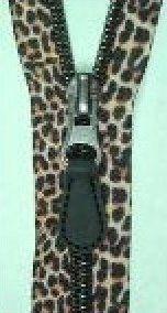 "Leopard safari coil teeth 24"" zipper separating"