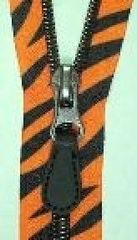 "Tiger safari coil teeth 24"" separating zipper"