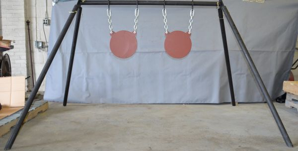 """60x60 Stand w/ 2 12"""" Gongs"""