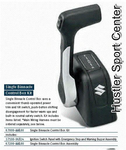 suzuki outboard single binnacle control box kit (67000-88l01) | hustler  sport center inc