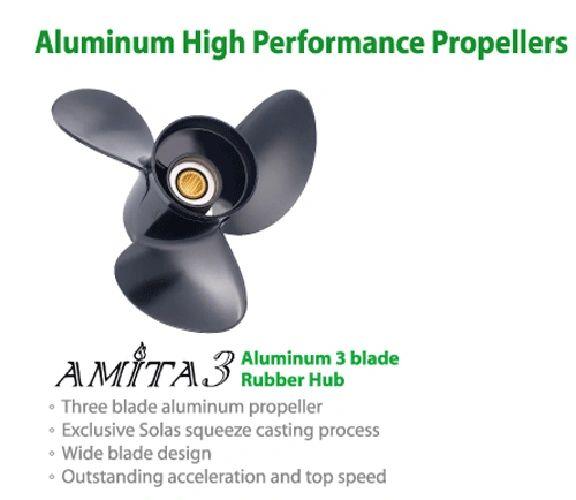 Aluminum Solas 3411-130-19 Amita 3 Propeller Yamaha